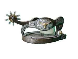 Spur and Horseshoe Candle Holder