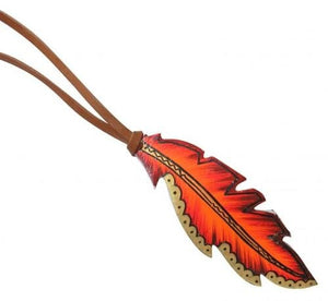 Fire & Gold Tie On Feather