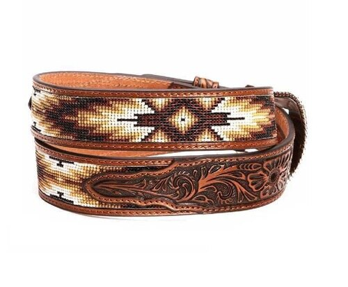 Nocona Men's Beaded Inlay Belt