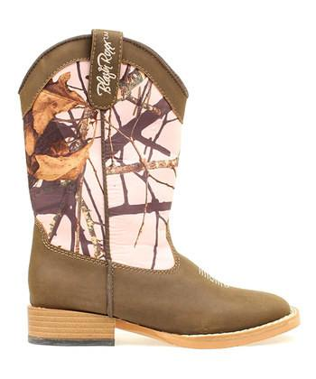 Blazin Roxx Toddler's Briar Boot Brown/Mossy Oak Pink - Aces & Eights Western Wear, Inc.