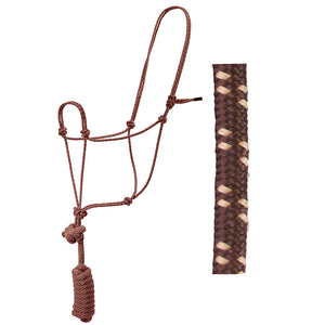 Poly Rope Halter w/8' Lead