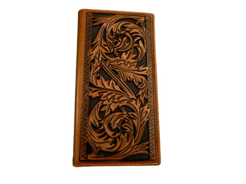 Hooey Signature Rodeo Floral Tooling Wallet