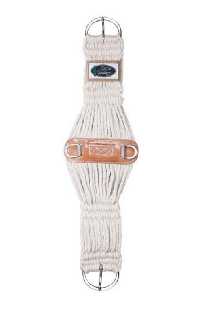 Cactus Saddlery Mohair Roper Leather Center Cinch