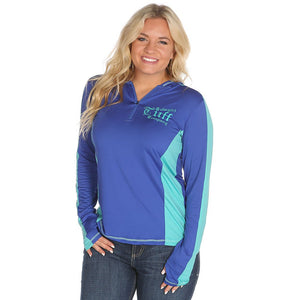 Cowgirl Tuff Ladies Hooded Athletic Pull-Over