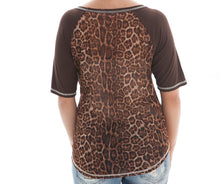 Load image into Gallery viewer, Cowgirl Tuff Brown & Leopard Short Sleeve Top X-Small - Aces & Eights Western Wear, Inc.