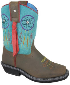 Smoky Mountain Girls' Dreamcatcher Western Boot Square Toe - 3515Y