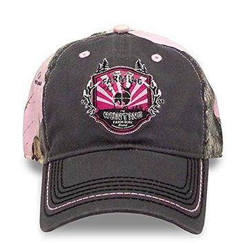 Farm Girl Brand Cap Mossy Oak Pink Camo - I'm Hunting - Aces & Eights Western Wear, Inc.