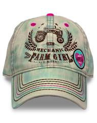 Farm Girl Tractor Mechanic Cap with Velcro Strap - Aces & Eights Western Wear, Inc.