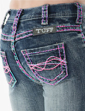 Load image into Gallery viewer, Cowgirl Tuff Girls Aztec Jeans