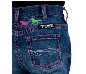 Cowgirl Tuff Girls Ride Fast Jeans