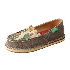 Twisted X Casual Youth Loafers Cactus Print