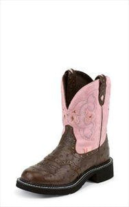 "Ladies Justin Gypsy 8"" Ostrich Print Boot 9935 - Aces & Eights Western Wear, Inc."