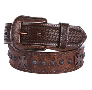 3D Belt Company Studded Men's Western Fashion Belt - Aces & Eights Western Wear, Inc.