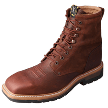 Load image into Gallery viewer, Twisted X Mens Lite Cowboy Lacer Steel Toe Boots MLCSLW1