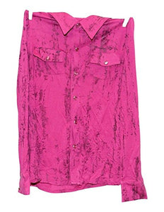 Cowgirl Tuff Girl Pink Long Sleeve Button Snap Down Blouse