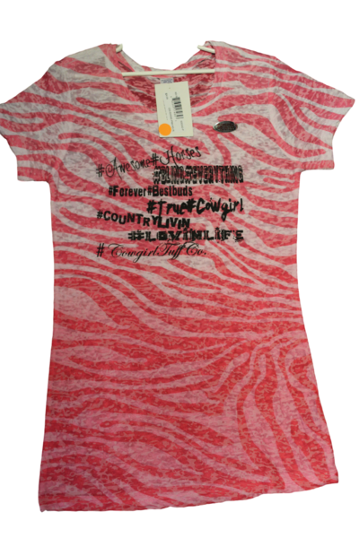 Cowgirl Tuff Zebra Girl's Shirt - Aces & Eights Western Wear, Inc.