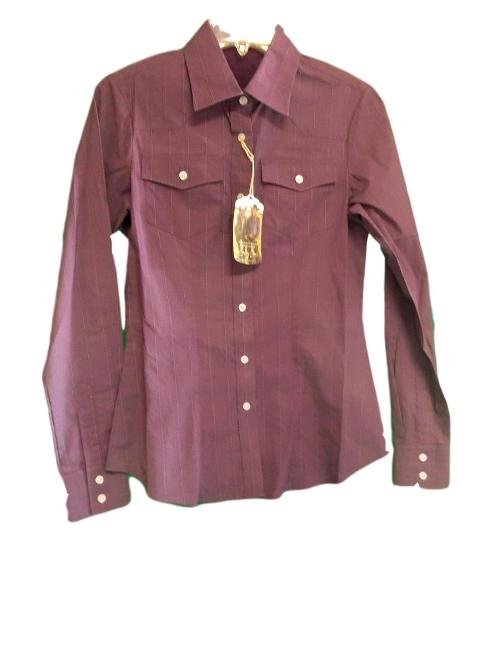 Sherry Cervi by Resistol Classic Purple Button Down Ladies Western Shirt