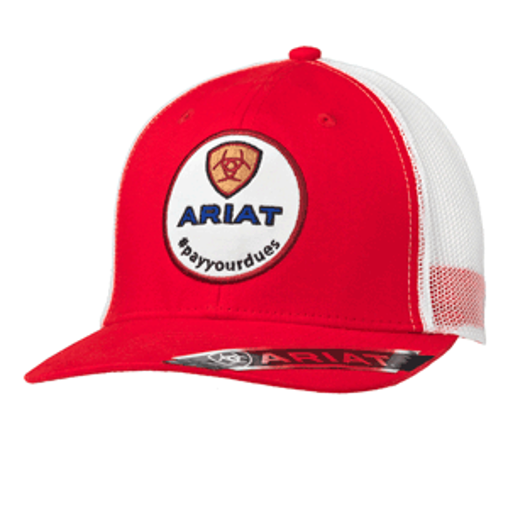 Ariat Red Ball Cap Pay Your Dues