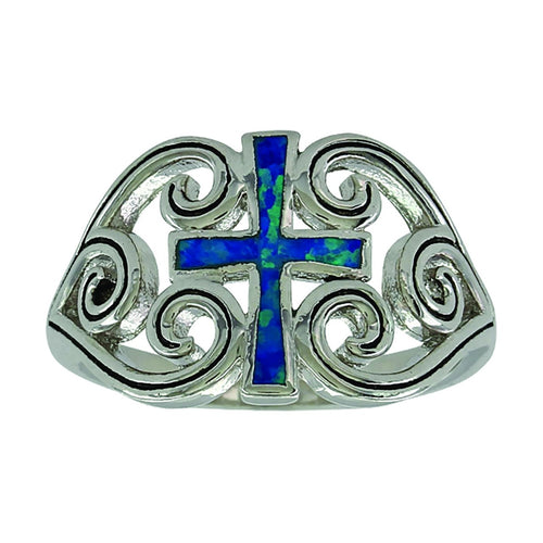 Montana Silversmith River of Lights Filigree Water Lights Cross Ring