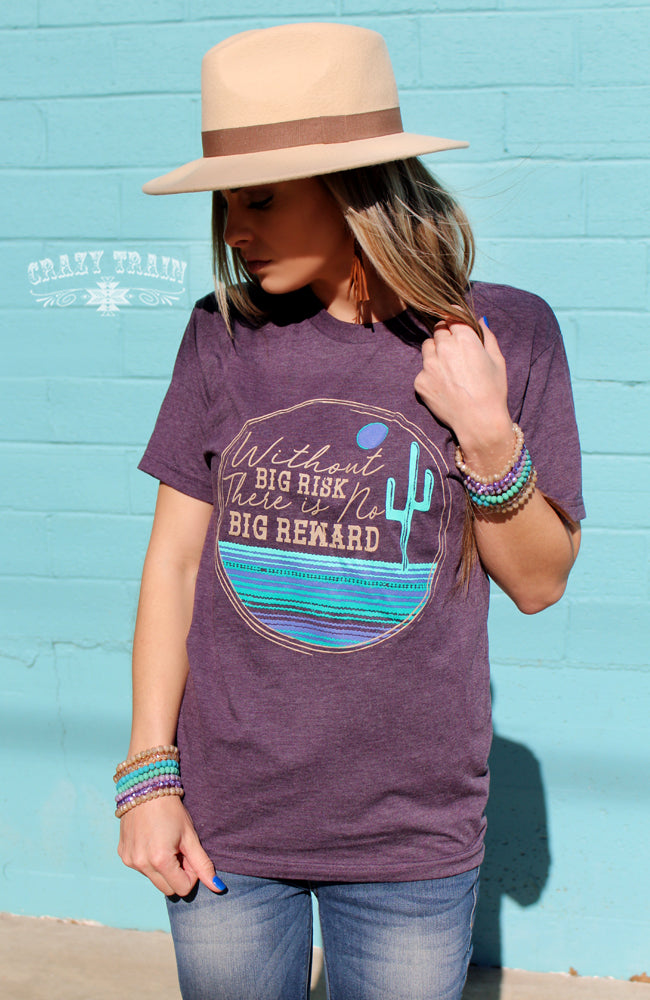 Crazy Train Ladies Big Risk Purple Tee