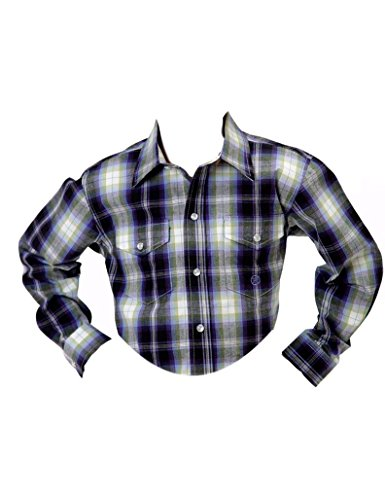 Roper Boys Long Sleeve Amarillo Driftwood  Plaid Western Shirt
