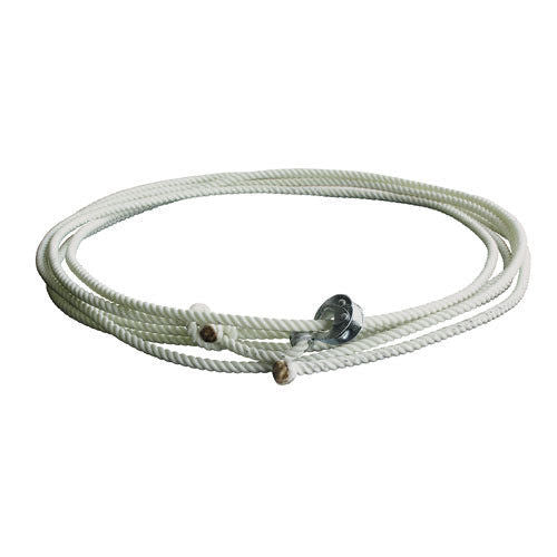 Nylon Lariat W/Quick Release - Natural - 3/8T X 30Ft
