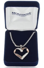 Load image into Gallery viewer, Montana Silversmiths Facets of Love Rose Gold Heart Necklace