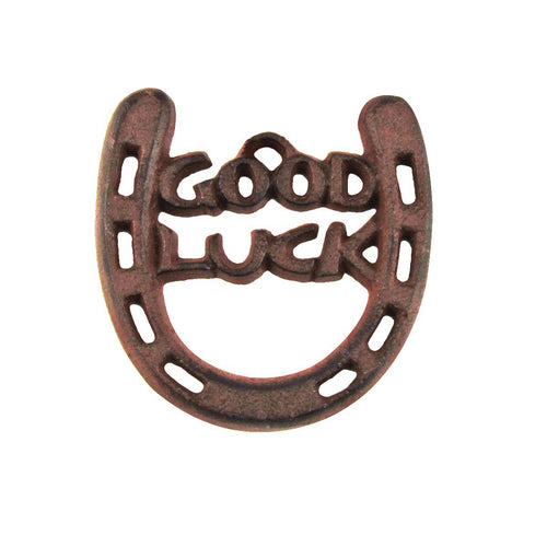 Cast Iron Lucky Horseshoe Sign Good Luck Charm Western Farm/Barn/Farmhouse Decor