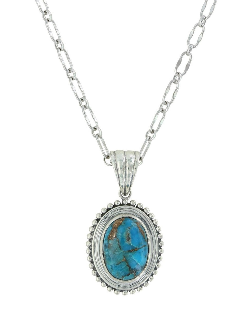 Montana Silversmith Sterling Lane Copper Earth Turquoise Necklace