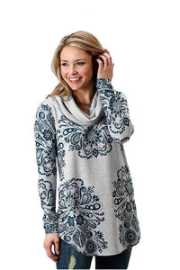 Roper Heather Grey Sweater Jersey Tunic