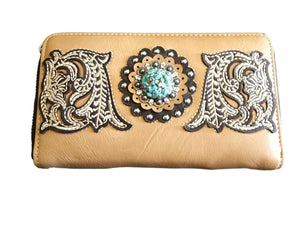 Montana West Tan Embroidered w/Turq Stone