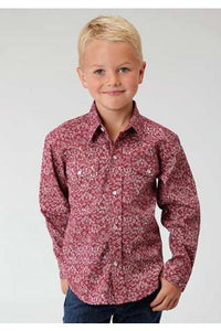 Roper Vintage Tapestry Boys Amarillo Collection Western Shirt