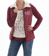Load image into Gallery viewer, Cowgirl Tuff Ladies Burgundy and Cream Reversible Vest