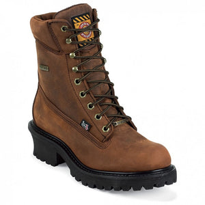 Justin Round Toe Lace Up Work Boots WK615