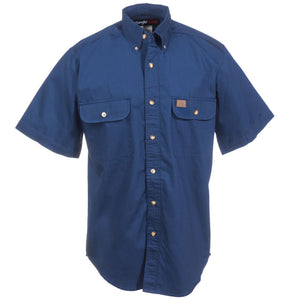 Wrangler Riggs Mens Shortsleeve Button Down Shirt