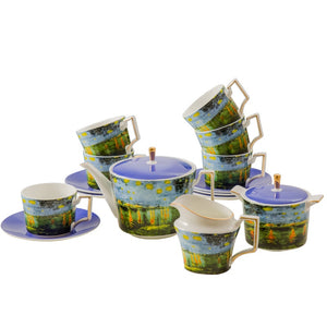 Tea Set Van Gogh Inspired Fine Bone China