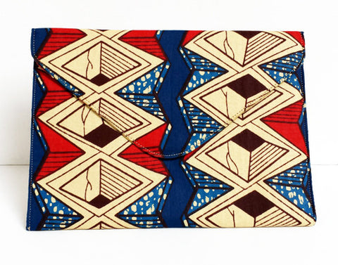 African Print Geometric Tablet Case