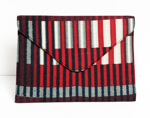 African Print Burgundy Tablet Case
