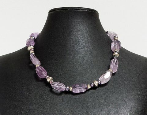 Amethyst Semi-Precious Necklace