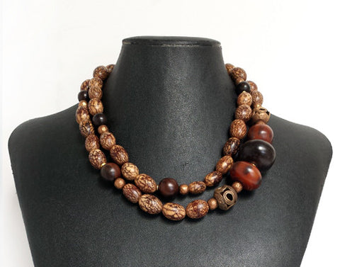 Earthy Nut Necklace