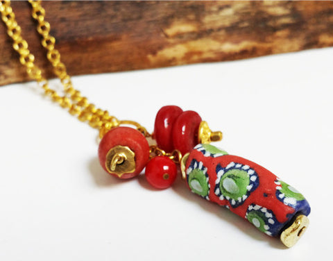 New Trade Bead Pendant Necklace