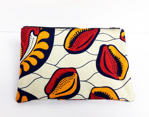 African Print Seed Make-Up Bag