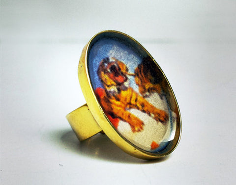 Dali's Tiger Resin Ring