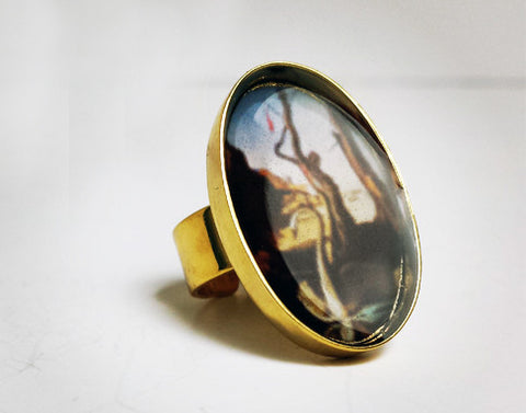 Dali's 'Swans Reflecting Elephants' Resin Ring