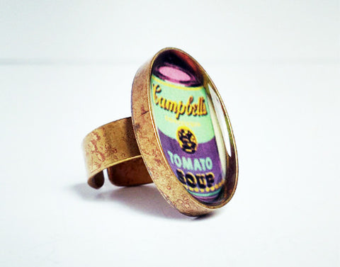 Andy Warhol Resin Ring