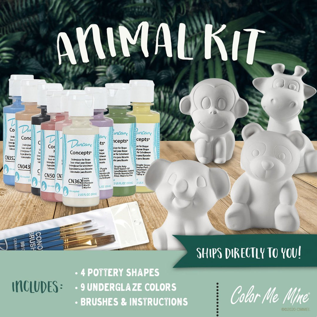 Animal Painting Kit (Glaze)