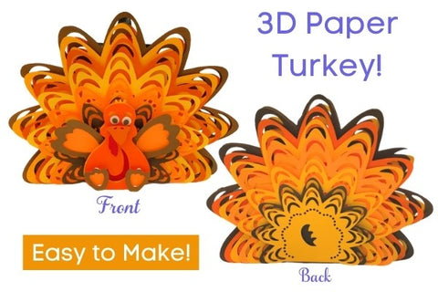 3D Layered Turkey (SVG, DXF, EPS, PNG)