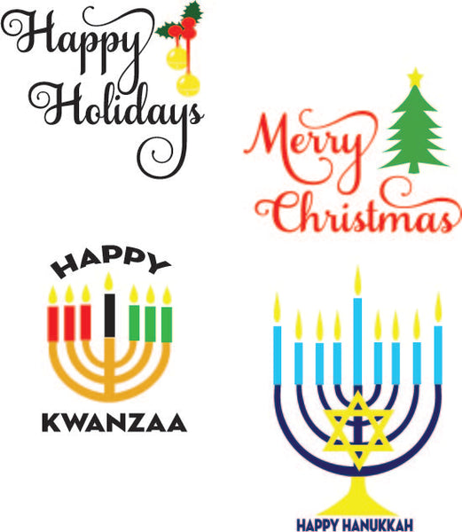 Happy Holiday Signs (SVG, EPS, PNG, JPG, DXF)