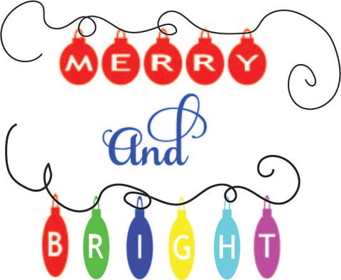 Merry and Bright (SVG, EPS, PNG, JPG, DXF)