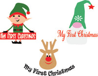 My 1st Christmas Bundle (SVG, EPS, PNG, JPG, DXF)
